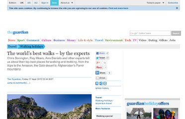 http://www.guardian.co.uk/travel/2012/apr/27/worlds-best-walks-by-experts