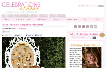 http://celebrationsathomeblog.com/2012/04/keys-to-success-graduation-party-decor.html