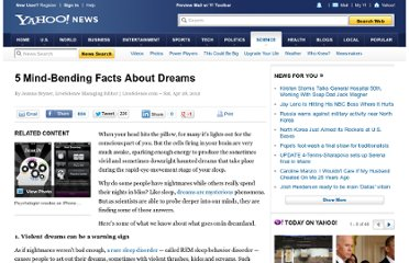 http://news.yahoo.com/5-mind-bending-facts-dreams-145028046.html