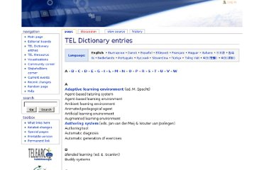 http://www.tel-thesaurus.net/wiki/index.php/TEL_Dictionary_entries