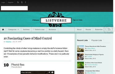 http://listverse.com/2009/07/29/10-fascinating-cases-of-mind-control/