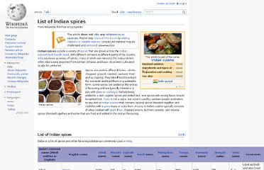 http://en.wikipedia.org/wiki/List_of_Indian_spices