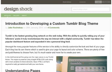 http://designshack.net/articles/html/introduction-to-developing-a-custom-tumblr-blog-theme/