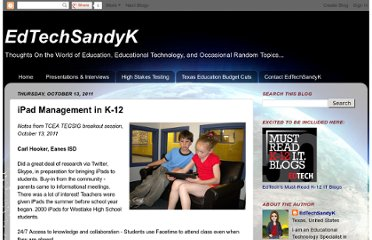 http://edtechsandyk.blogspot.com/2011/10/ipad-management-in-k-12.html