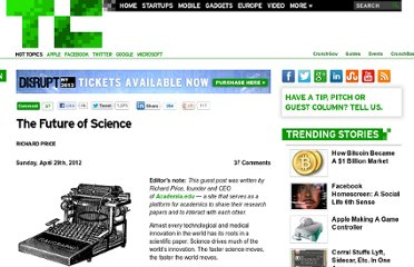 http://techcrunch.com/2012/04/29/the-future-of-science/