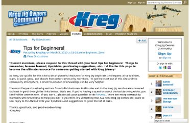 http://kregjig.ning.com/forum/topics/tips-for-beginners