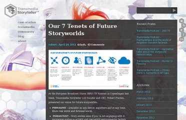http://www.tstoryteller.com/our-7-tenets-of-future-storyworlds