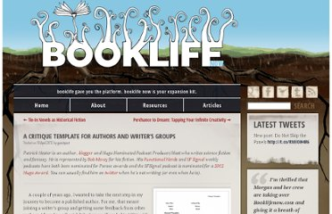 http://www.booklifenow.com/2012/04/a-critique-template-for-authors-and-writers-groups/