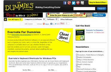 http://www.dummies.com/how-to/content/evernote-for-dummies-cheat-sheet.html