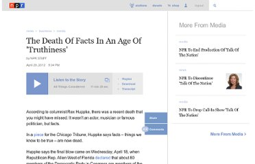 http://www.npr.org/2012/04/29/151646558/if-a-fact-dies-in-the-forest-will-anyone-believe-it