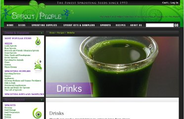 http://sproutpeople.org/recipes/drinks.html