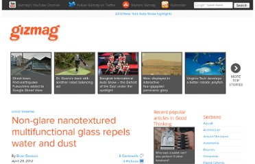 http://www.gizmag.com/nanotextured-multifunctional-glass/22339/