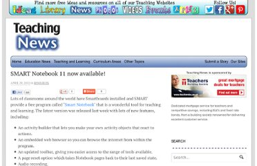 http://www.teachingnews.co.uk/2012/04/smart-notebook-11-now-available/