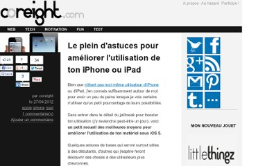 http://coreight.com/content/astuces-ameliorer-utilisation-ios-iphone-ipad