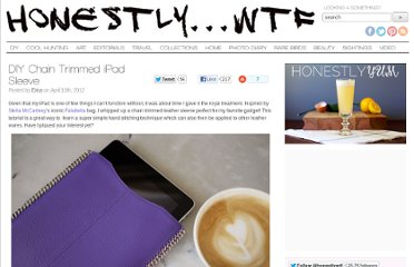 http://honestlywtf.com/diy/diy-chain-trimmed-ipad-sleeve/