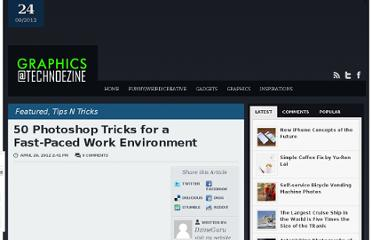 http://graphics.technoezine.com/2012/04/50-photoshop-tricks-for-a-fast-paced-work-environment/