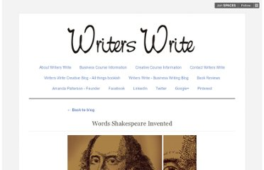 http://writerswrite.posterous.com/words-shakespeare-invented