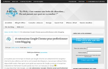 http://www.autourduweb.fr/16-extensions-google-chrome-perfectionner-blogging/