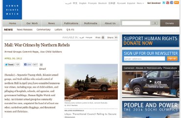 http://www.hrw.org/news/2012/04/30/mali-war-crimes-northern-rebels