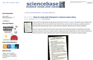 http://www.sciencebase.com/science-blog/how-to-read-and-interpret-a-science-news-story.html