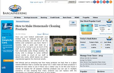 http://www.bargaineering.com/articles/homemade-cleaning-products.html
