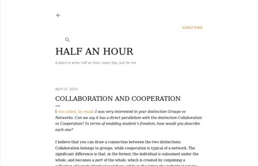 http://halfanhour.blogspot.com/2010/04/collaboration-and-cooperation.html