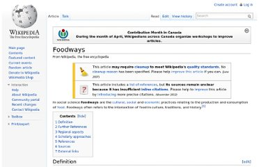 http://en.wikipedia.org/wiki/Foodways