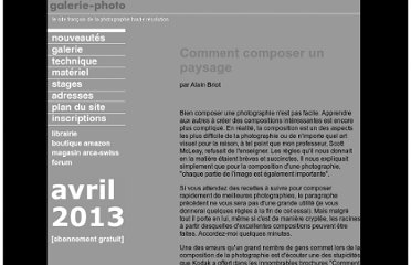 http://www.galerie-photo.com/comment-composer-un-paysage.html