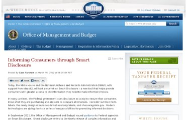 http://www.whitehouse.gov/blog/2012/03/30/informing-consumers-through-smart-disclosure
