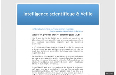 http://intelligencescientifique.wordpress.com/2012/04/23/quel-droit-pour-les-articles-scientifiques-adbs/