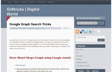 http://www.gr8tricks.com/2012/01/google-graph-search-tricks.html