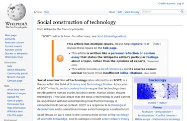 http://en.wikipedia.org/wiki/Social_construction_of_technology