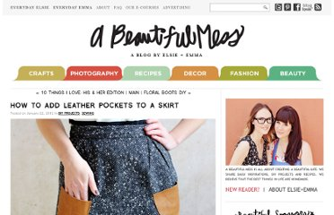 http://abeautifulmess.typepad.com/my_weblog/2012/01/how-to-add-leather-pockets-to-a-skirt.html