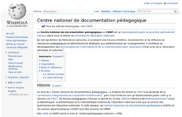 http://fr.wikipedia.org/wiki/Centre_national_de_documentation_p%C3%A9dagogique