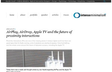 http://intenseminimalism.com/2011/airplay-airdrop-apple-tv-and-the-future-of-proximity-interactions/