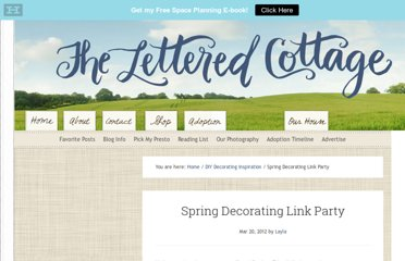 http://theletteredcottage.net/spring-decorating-link-party/