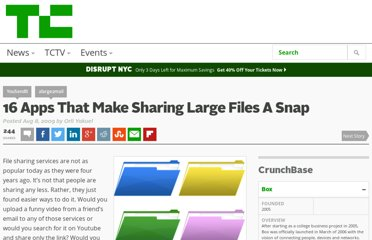 http://techcrunch.com/2009/08/08/16-apps-that-make-sharing-large-files-a-snap/