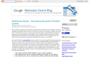 http://googlewebmastercentral.blogspot.com/2012/04/responsive-design-harnessing-power-of.html