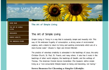 http://www.simpleliving.org/The_Art_of_Simple_Living.html