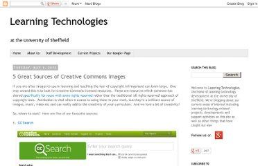 http://learningtechnologiesteam.blogspot.com/2012/05/5-great-sources-of-creative-commons.html