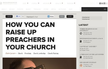 http://theresurgence.com/2012/04/18/how-you-can-raise-up-preachers-in-your-church