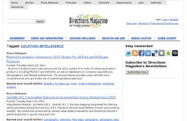 http://www.directionsmag.com/tags/explore/location+intelligence