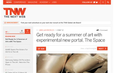 http://thenextweb.com/uk/2012/05/01/get-ready-for-a-summer-of-art-with-experimental-new-portal-the-space/