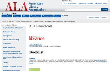 http://www.ala.org/offices/publishing/productsandpublications/periodicals/periodicals