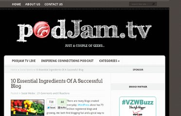 http://podjam.tv/2012/05/01/10-essential-ingredients-of-a-successful-blog/