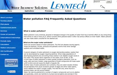 http://www.lenntech.com/water-pollution-faq.htm