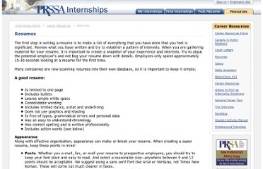 http://www.prssa.org/internships/resources.aspx?Id=17
