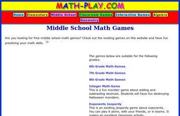 http://www.math-play.com/Middle-School-Math-Games.html