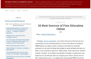 http://sportspath.typepad.com/sports-path-e-learning-bl/2012/04/50-best-sources-of-free-education-online.html