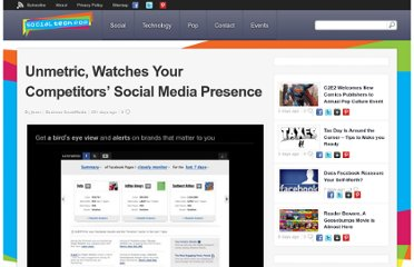 http://www.socialtechpop.com/2012/04/unmetric-watches-your-competitors-social-media-presence/